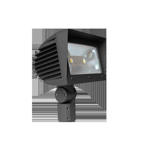 Elite OFL-201-LED-10000L-DIM10- MVOLT-50K-BZ LED SLIP FITTER MOUNT FLOOD 10,000 LUMEN 0-10V DIMMING 120-277V 5000K BRONZE