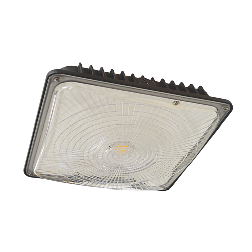 ELITE OVR-101-LED-6000L-DIM10-MVOLT-50K-BZ SQUARE LED CANOPY 6000LUMEN 0-10V DIMMING 120-277V 5000K